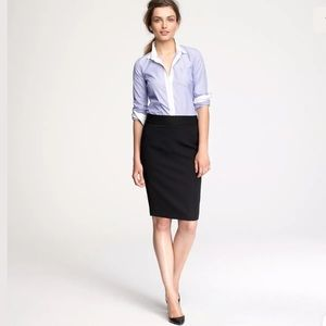 J.Crew Black Wool No. 2 Pencil Skirt Career 2P